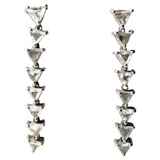 18K Gold 2 cttw Rose Cut VS Diamond Earrings