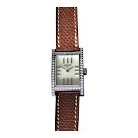 Hermes Tandem 18K Gold Diamond Watch