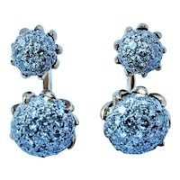 Van Cleef & Arpels 18k Gold VVS E 3.8 cttw Diamond Earrings cuff links