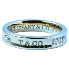 Tiffany 1837 18k Gold Band Ring
