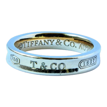 Tiffany 1837 18k Gold Band Ring