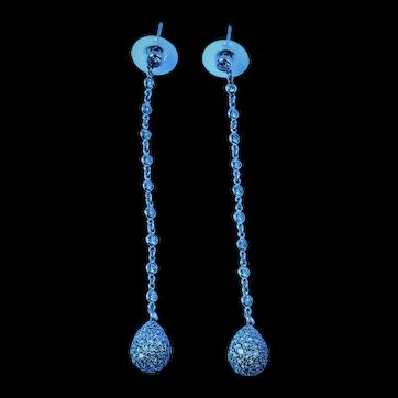18K gold 4.34 cttw Diamond Earrings