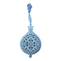 Edwardian Platinum Enamel Diamond Pendant Watch