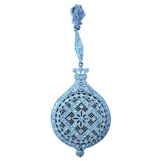 Edwardian Platinum Enamel Diamond Pendant Watch
