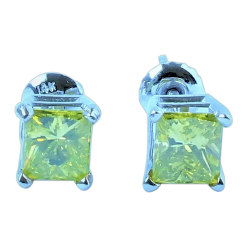 1.8 Cttw  VS Yellow Diamond Earrings