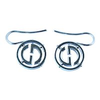 Gucci 18k white gold earrings