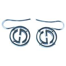 Gucci 18k white gold earrings