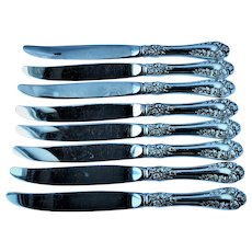 Normandy Rose by Northumbria 8 Sterling Silver Dinner Knives