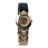 Vintage Versace 18K Gold Diamond Watch