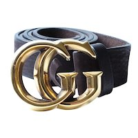 Brown Leather Gucci Belt