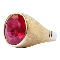 18k Gold Ruby Ring Vintage