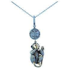 Lorraine Schwartz Speak No Evil Monkey Pendant 2.4 cttw diamond