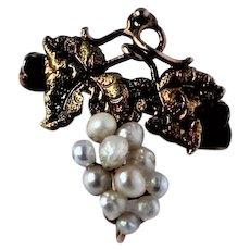 Victorian 14k Gold Natural Pearl mini Pin