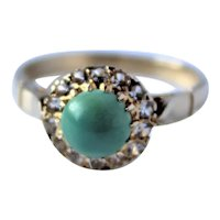 Vintage 14k Gold Turquoise Ring