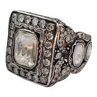 14k Gold 4.39 cttw VS Rose OldEuropean Cut Diamonds Ring