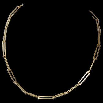 "Cavelti 18K Gold 31.4g Necklace Chain Long Link 30"""