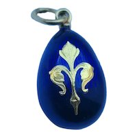 Faberge 18k gold Enamel Egg Pendant