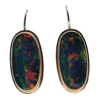 Birks 14k gold Opal Earrings
