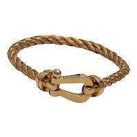 Fred Paris Force 10 18K Gold Bracelet 27 grams