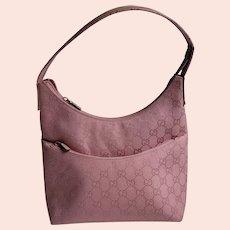 Vintage Gucci pink monogram canvas bag