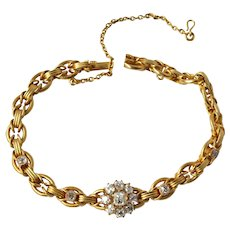 Russian Pre Revolution 14K 1.72 CTTW Diamond Bracelet