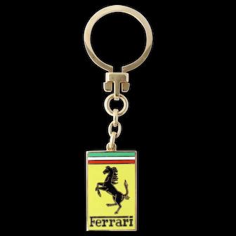 Ferrari 18k Victor Mayer Enamel Gold Keychain