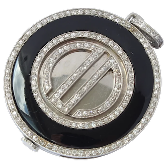 Diamond Palladium Tavannes Watch Pendant