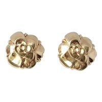 18K Gold Chanel Camellia Earrings