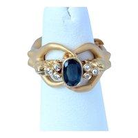 Carrera y Carrera 18K Erotica 1.05 Ct Sapphire Diamond Ring