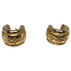 Vintage 18K Yellow Gold Hoop Earrings