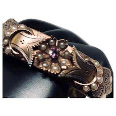 ESTATE: Antique Edwardian 14K Gold Hinged Bangle for the Bride