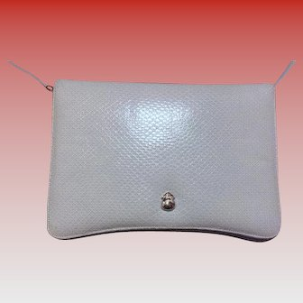 Vintage SKY BLUE Judith Leiber Clutch and Shoulder Bag