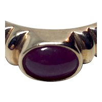 14K Opaque Ruby Ring - perfect Engagement or Stackable Ring