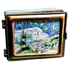 2001 Kelvin Chen Hinged Enamel Limited Edition Trinket Box