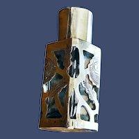 Vintage Filigree Sterling Silver Purse-size Perfume Bottle