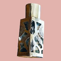 Vintage Filigree Sterling Silver Purse-size Perfume Bottle