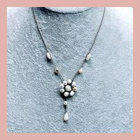 Art Deco Sterling Baroque Pearl Necklace