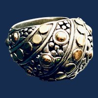 John Hardy Dot 18K Gold & Sterling Silver Dome Ring - 7