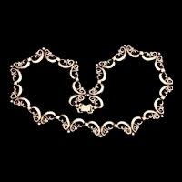 Vintage Symmetalic 14k Gold and Sterling Silver Necklace