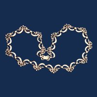 Vintage Symmetalic 14k Gold and Sterling Silver Necklace