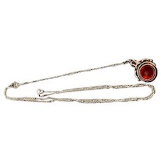 Ladies Sterling Vintage Watch Chain and Fob