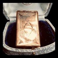 Large Art Deco Engraved Gold Filled Family Locket