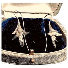 Vintage Silver Dangle Earrings Traditional Chinese Drop earrings, One Of A Kind