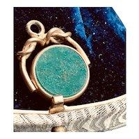 Vintage Gold Filled Spinner Watch Fob