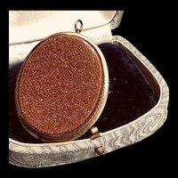 Large Goldstone Brooch/Pendant