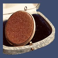 Large Goldstone Brooch/Pendant