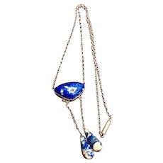 Art Deco Denim Lapis Lazuli Necklace