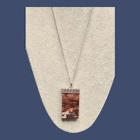 Natural Rhodonite Sterling Pendant Necklace