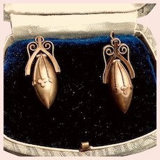 Gorgeous Antique Pinchbeck Drop Earrings