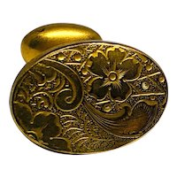 Antique Victorian Cufflinks Signed H & A Co Ornate Gold-filled